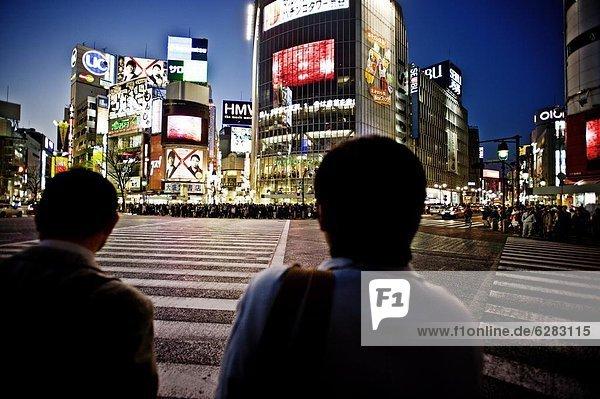 Tokyo  Hauptstadt  Shibuya  Asien  Japan