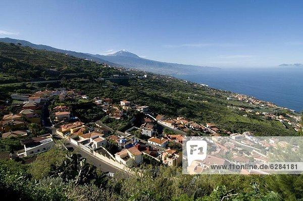entfernt Europa Vulkan Dorf Kanaren Kanarische Inseln Spanien Teneriffa