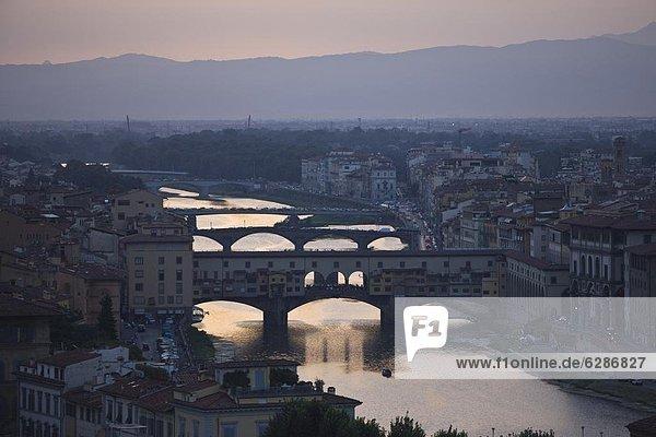 Europa  Sonnenuntergang  Florenz  Italien  Toskana