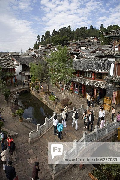 The Old Town  Lijiang  UNESCO World Heritage Site  Yunnan Province  China  Asia
