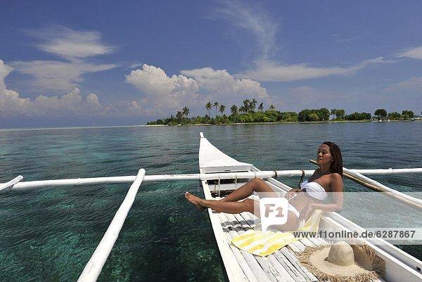 Tradition  Küste  Boot  Insel  Philippinen  Südostasien  Mädchen  Asien  Bohol