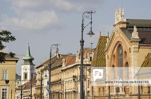 Budapest  Hauptstadt  Europa  Halle  Schädling  Ansicht  Seitenansicht  groß  großes  großer  große  großen  Ungarn  Markt