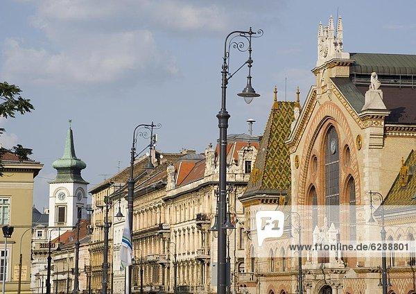 Fliesenboden  Budapest  Hauptstadt  Dach  Anschnitt  Europa  Halle  bunt  Schädling  Ansicht  groß  großes  großer  große  großen  Ungarn  Markt