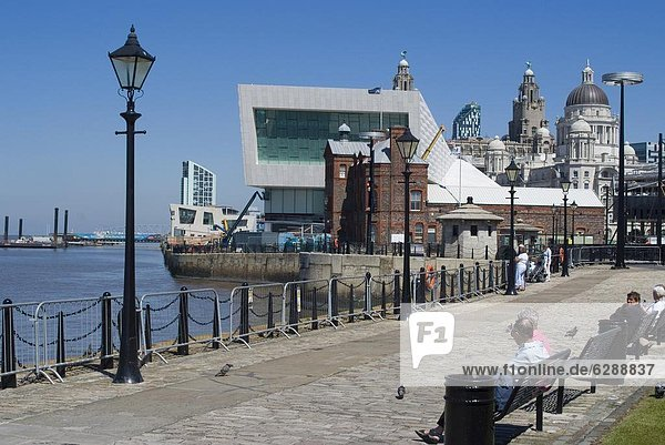 Europa  Großbritannien  Museum  Anmut  3  England  Liverpool  Merseyside  neu