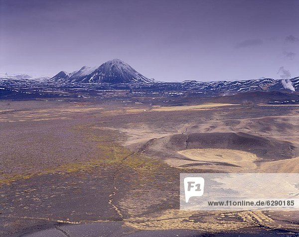 Berggipfel  Gipfel  Spitze  Spitzen  Vulkan  Ansicht  Myvatn  Island