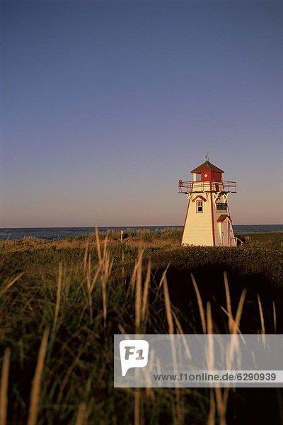 Lighthouse at Cavendish Beach  Prince Edward Island  Canada  North America