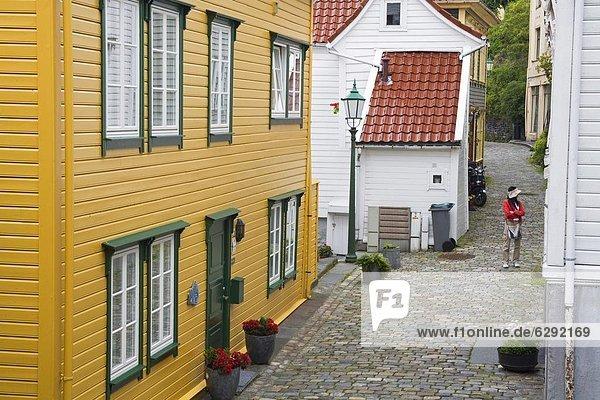 Europa Stadt Norwegen Ortsteil alt Skandinavien