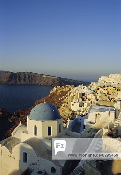 Thira (Fira)  Santorini  Cyclades Islands  Greece  Europe