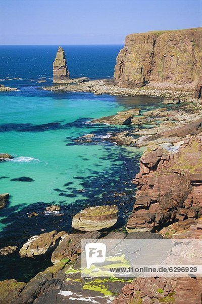 nahe  Stapel  Steilküste  Küste  Meer  Ärger  Bucht  Schottland
