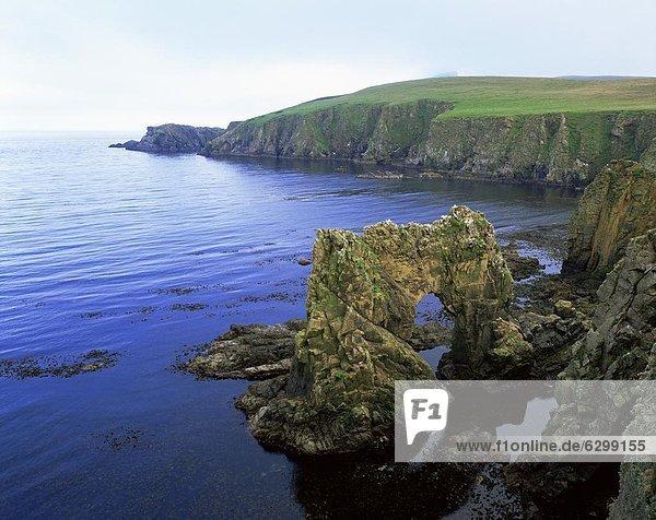 Europa  Landschaft  Ostküste  Großbritannien  Brücke  Schottland  Shetlandinseln
