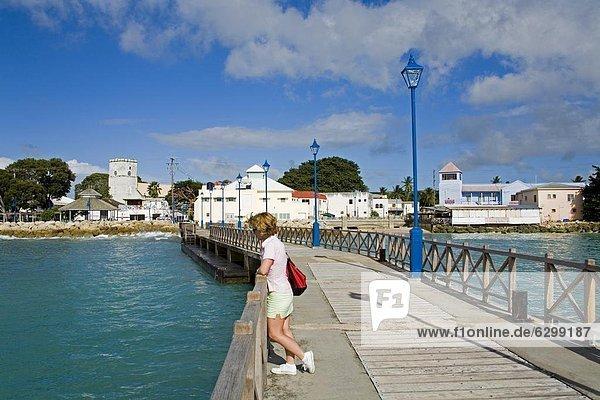 Speightstown Pier  St. Peter's Parish  Barbados  Antillen  Karibik  Mittelamerika