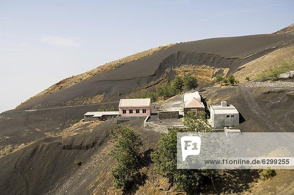 Countryside on way to the volcano  Fogo (Fire)  Cape Verde Islands  Africa