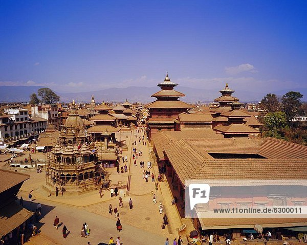 Aerial view of Durbar Square  Patan  Nepal