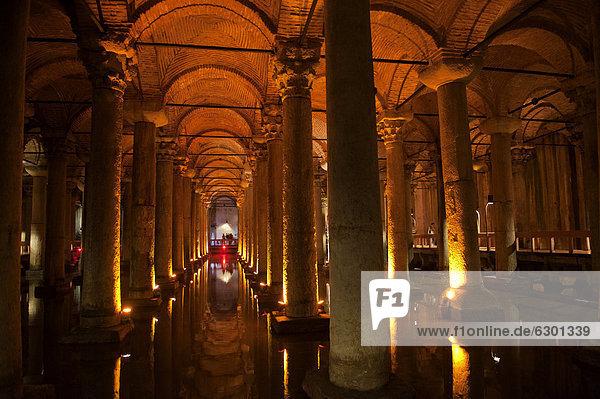 Basilika-Zisterne  Istanbul  Türkei