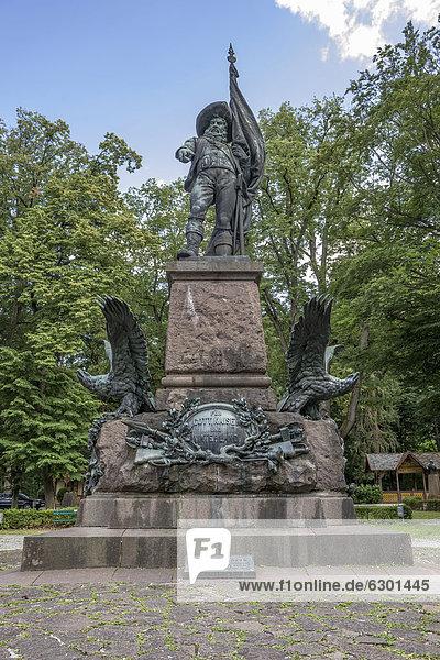 Andreas Hofer Denkmal  Freiheitskämpfer und Nationalheld  Oberkommandant in den Tiroler Freiheitskämpfen  am Bergisel  Österreich  Europa  ÖffentlicherGrund