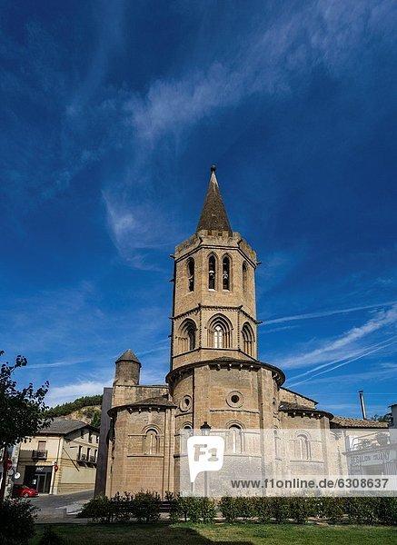Church of Santa María la Real in medieval town Sangüesa in Navarre  Spain