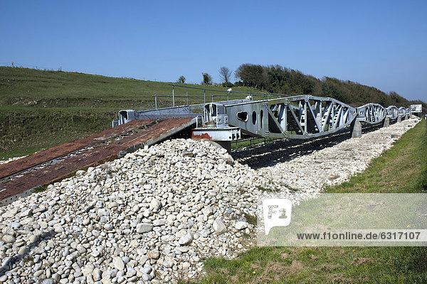 Landungsbrücke der US-Armee am Omaha Beach  Rekonstruktion  Vierville-sur-Mer  Normandie  Frankreich  Europa