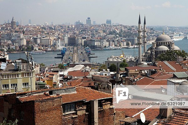 view on the golden horn seen from the peninsula  Istanbul