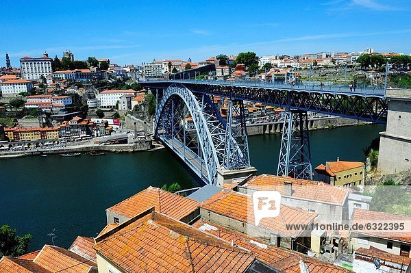 A view to a bridge D.Luis I in th city of Porto