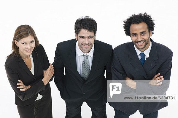 Geschäftspartner stehen zusammen  Porträt