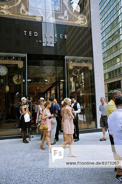 Customers flock to the grand opening of the new Ted Baker clothing store on Fifth Avenue in New York The new store on Fifth Avenue is the London-based firms third store in New York and the 18th in the United States