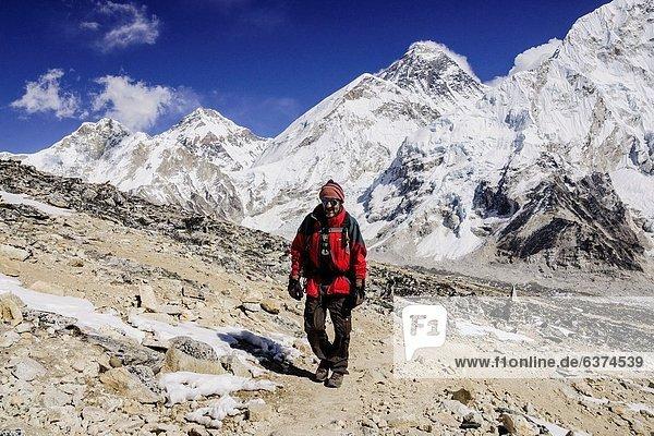 Bergsteigen  Berg  Mount Everest  Sagarmatha  Asien  Nepal