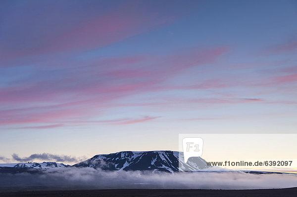 Kerlingarfjöll Berge  Blick vom Hochlandweg Kjölur oder Kjalvegur  Hochland  Island  Europa