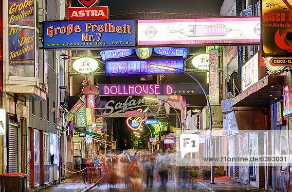 Große Freiheit in St. Pauli  Hamburg  Deutschland  Europa Große Freiheit in St. Pauli, Hamburg, Deutschland, Europa