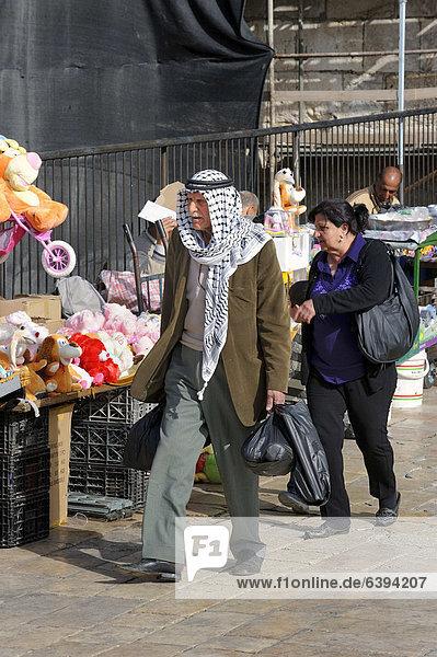 Palästinenser am Damaskustor  Arabisches Viertel  Jerusalem  Israel  Vorderasien  Naher Osten