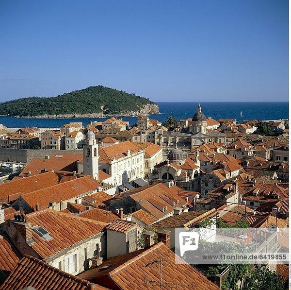 Die Altstadt von Dubrovnik  Dalmatien  Kroatien