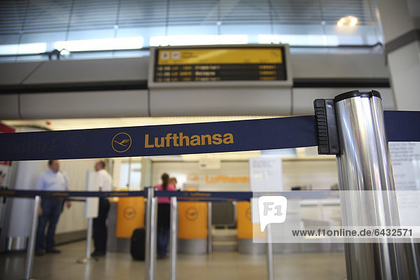 Delays and canceled flights due to the strike of the Lufthansa flight attendants  Berlin Tegel Airport  Berlin  Germany  Europe