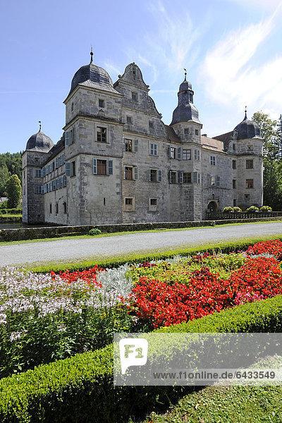 Wasserschloss Mitwitz  Landkreis Kronach  Franken  Bayern  Deutschland  Europa
