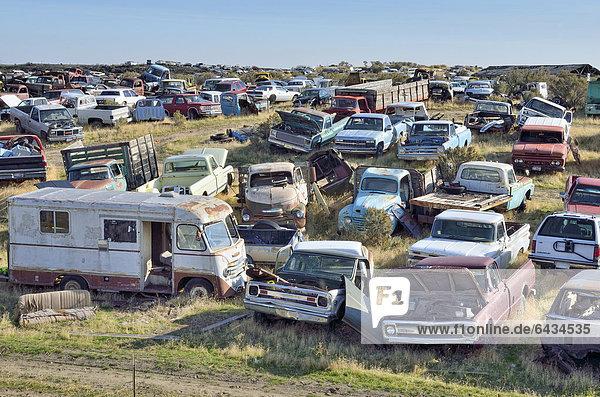 Autofriedhof  Wendell  Highway 46  Idaho  USA  ÖffentlicherGrund