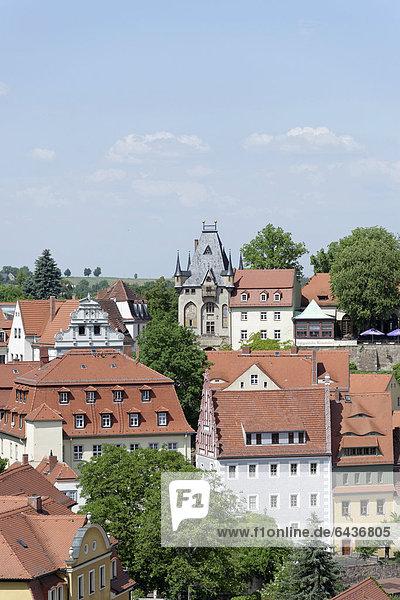 Blick auf Stadttor vom Turm der Frauenkirche  Meißen  Sachsen  Deutschland  Europa