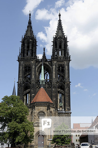 Meissen Cathedral  Domplatz  cathedral square  Meissen  Saxony  Germany  Europe