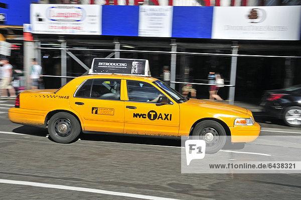 Taxi  Times Square  Midtown Manhattan  New York City  New York  USA  North America  America  PublicGround