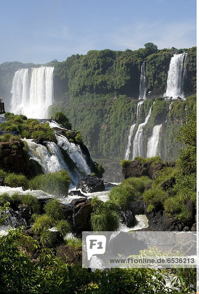 Mandatory Credit: Photo by Phil Clarke-Hill / SpecialistStock / Rex Features ( 1277390a ) Side view of Iguacu falls  Misiones  Argentina  South America  Jan 2008 VARIOUS