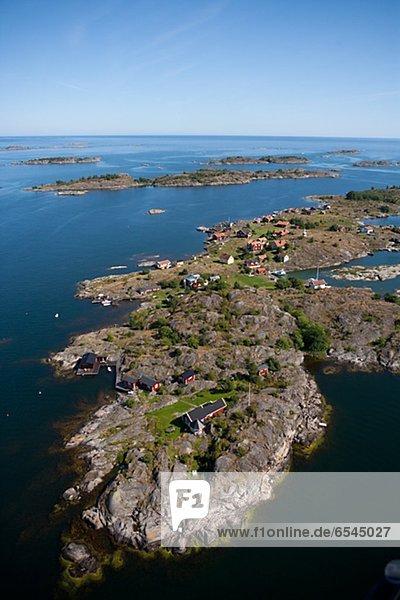 Dorf Insel Ansicht Luftbild Fernsehantenne