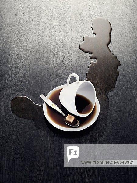 Tasse  verschütten  Kaffee