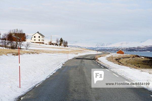 Winter Fernverkehrsstraße
