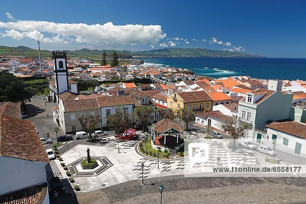 The city of Ribeira Grande on the island of Sao Miguel  Azores islands  Portugal