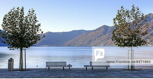 Bootsanleger in Ascona  Ticino  Schweiz