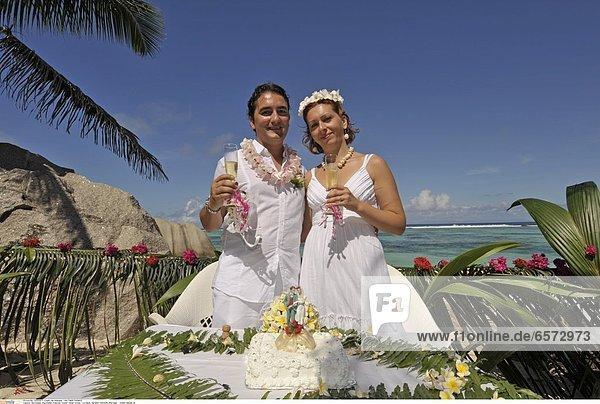 Seychellen  Seychelles  Indischer Ozean  Indian Ocean  La Digue  Heiraten  Hochzeit  Marriage model release ok