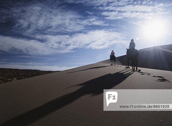 Silhouette  fahren  Sand  reiten - Pferd  Düne