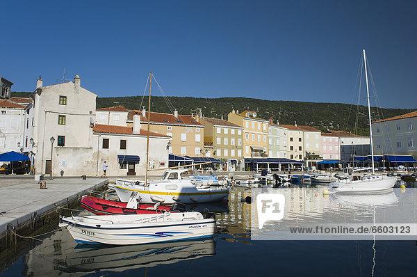 Hafen Europa Stadt Boot Cres Adriatisches Meer Adria Kroatien