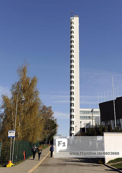 Olympiaturm in Helsinki  Finnland  Europa