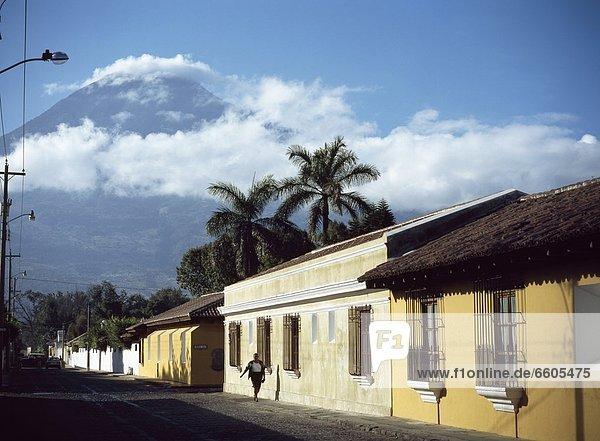 Street And Volcano