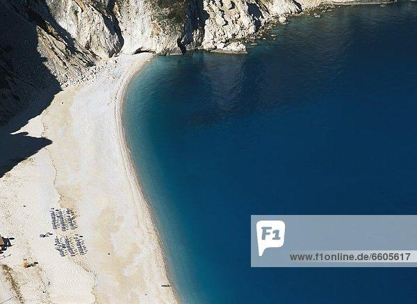 Myrtos Beach  Aerial View