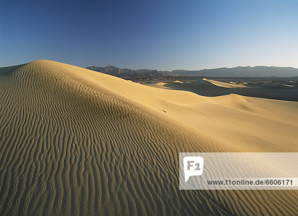 Looking Across Sand Dunes At Dawn Near Stovepipe Wells