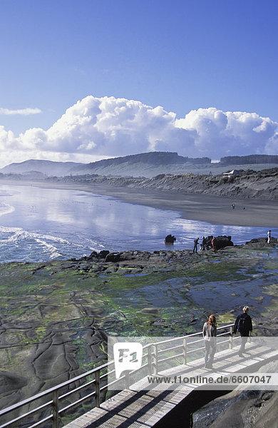 Erhöhte Ansicht Aufsicht gehen Küste